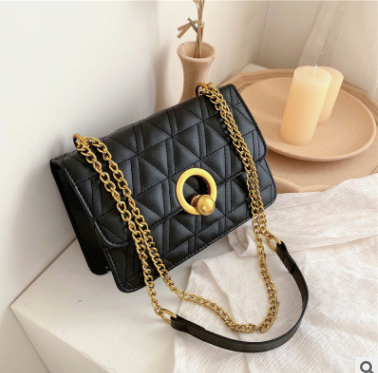 Women's Bag New Western Style Fashion Chain Shoulder Small Square Bag Trendy Crossbody Bag